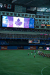 National anthem at Blue Jays baseball, Rogers Centre, Toronto