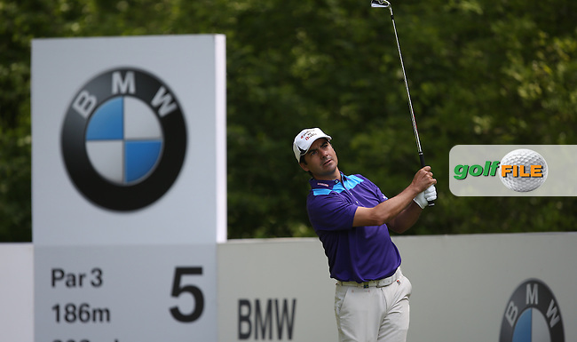 Felipe Aguilar (CHI) during Round Three of the 2015 BMW PGA Championship over the West Course at Wentworth, Virginia Water, London. 23/05/2015. Picture David Lloyd | www.golffile.ie.