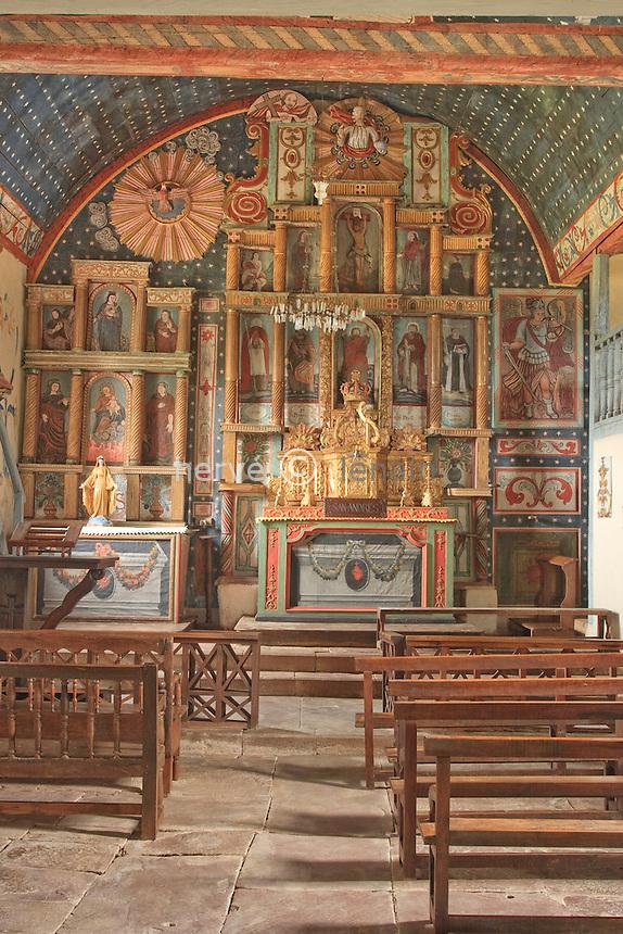 France, Aquitaine, Pyrénées-Atlantiques (64), Ahaxe, hameau de Bascassan, chapelle Saint-André // France, Aquitaine, Pyrénées-Atlantiques , Ahaxe, hamlet of Bascassan, chapel Saint André