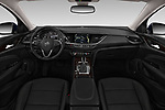Stock photo of straight dashboard view of a 2019 Buick Regal TourX Essence 5 Door Wagon
