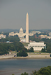 Washington DC USA: The Washington Monument, Lincoln Memorial, and Capitol, as seen from Arlington, VA.Photo copyright Lee Foster Photo # 2-washdc82796