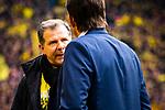 11.05.2019, Signal Iduna Park, Dortmund, GER, 1.FBL, Borussia Dortmund vs Fortuna Düsseldorf, DFL REGULATIONS PROHIBIT ANY USE OF PHOTOGRAPHS AS IMAGE SEQUENCES AND/OR QUASI-VIDEO<br /> <br /> im Bild | picture shows:<br /> Andreas Möller (ehemals BVB) wird vor dem Spiel, gemeinsam mit den DFB Pokalsiegern von 1989 geehrt, <br /> <br /> Foto © nordphoto / Rauch