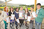 Junior Cert students from Colaiste na Sceilge Cahersiveen are looking towards a bright future after they received their results pictured here l-r; Niamh O'Connell, Shannon Boyle, Ciara Buckley, Chloe O'Connor,Cassandra Murphy, Paudie Casey & Jonathan Roddy.