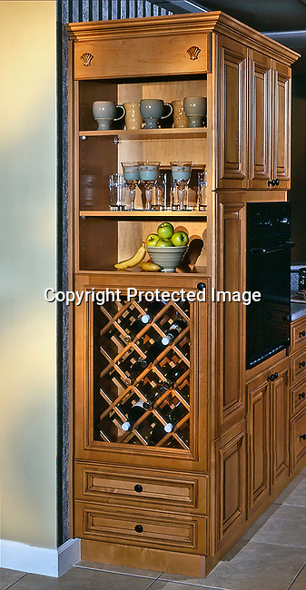 Custom Built Kitchen Wine Cabinet