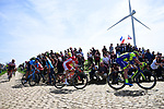 The breakaway group over 4'35&quot; ahead on one of the pave sectors during the 116th edition of Paris-Roubaix 2018. 8th April 2018.<br /> Picture: ASO/Pauline Ballet | Cyclefile<br /> <br /> <br /> All photos usage must carry mandatory copyright credit (&copy; Cyclefile | ASO/Pauline Ballet)
