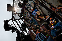 """Central American immigrants, heading the southern U.S. border, climb up the cargo train known as 'La Bestia' (The Beast) on a train station in Arriaga, Mexico, 25 May 2010. Between 2010 and 2015, the US and Mexico have apprehended almost 1 million illegal immigrants from El Salvador, Honduras, and Guatemala. While the economic reasons remain the most frequent motivation for people from Central America to illegally immigrate to the US, thousands of Salvadorans, Guatemalans, and Hondurans, many of them minors, seek asylum in the US due to the thriving crime and gang-related violence in their region (known as the Northern Triangle). Taking an exhausting and risky journey, riding thousands of miles atop the cargo trains, facing a physical danger and extortion from the organized crime groups that control migrant routes, the """"undocumented"""" still flee to the US, looking for their American dream."""