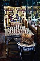 Chess set for sale in shop, Khan el Khalili Bazaar, Cairo, Egypt