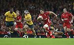Captain Sam Warburton makes a break for Wales.<br /> Dove Men Series 2014<br /> Wales v Australia<br /> Millennium Stadium<br /> 08.11.14<br /> ©Steve Pope-SPORTINGWALES