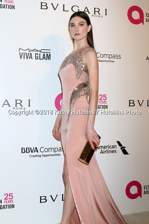 LOS ANGELES - MAR 4:  Jacquelyn Jablonski at the 2018 Elton John AIDS Foundation Oscar Viewing Party at the West Hollywood Park on March 4, 2018 in West Hollywood, CA