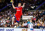 Tim Nothdurft (HBW Balingen-Weilstetten #11) beim Spiel in der Handball Bundesliga, TVB 1898 Stuttgart - HBW Balingen-Weilstetten.<br /> <br /> Foto © PIX-Sportfotos *** Foto ist honorarpflichtig! *** Auf Anfrage in hoeherer Qualitaet/Aufloesung. Belegexemplar erbeten. Veroeffentlichung ausschliesslich fuer journalistisch-publizistische Zwecke. For editorial use only.