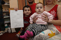 Chechen man with a decision de rejet dune demande dasile(asylum reject letter) from the French authority, with is wife, is 4 years old boys and is 6 month old daughter. They are living in a one room hotel provided by the CAFDA organisation, near Nation district in Paris..They receive basic help (soap, oil, powder baby milk, pampers,) from Les resto du coeur organisation and obtain daily food (hot soup, bread, meat can, yogurt, fruit) from la soupe populaire one per day, late in the evening, offer by the city administration of Paris. No food or money are give to them by the French government for more them a year. He have no right during the procedure, to apply for any lucrative work..After the second invasion by the Russian force in 1999, a OMON (police special force) camp have been settle in the front of his hand made new family house. During more of 3 years, the OMON force train themselves to shoot in the direction of his house. Several impact of Kalashnikovs, RPGs and mortars made In Allah he say, no injury. In February 2004, he write a letter to the internal minister and at the minister of justice, complaining of this non-stop persecution. Soon after, he get arrested by the police and imprisoned. They threat him, if he do not stop to complain to the justice. After is release, back home, he receive the visit of the OMON commandant, who seriously, treat him if they do not leave the house. .The next day, he buy 2 passports (400.-$ per document) and leave for Paris. .In October 2004 they escape Grozny for Moscow and them Brest by train. After been arrested in Poland, they have to register (finger print and give passport) in Debak centre and stay 12 days in a Warsaw stalag (centre). They barrow official ID document from the Chechen community and take the Eurolines Bus, Warsaw-Paris. Arriving in Paris, he return the document to the community in Warsaw..His hand made family house, is now occupied by officers of the OMON force..Having fail th