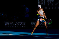 30th January 2020; Melbourne Park, Melbourne, Victoria, Australia; Australian Open Tennis, Day 11; Simona Halep of Romania returns the ball during the semifinals of the 2020 Australian Open on January 30 2020, at Melbourne Park in Melbourne, Australia. (Photo by Jason Heidrich/Icon Sportswire)