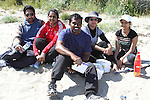 Rathika, Bithra, Sajan, Smitha and Bijo at the Cricket Tournament on Laytown Beach...Picture Jenny Matthews/Newsfile.ie