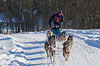 Musher Jeff Conn, 2007 Limited North American Championship Sled dog race in Fairbanks, Alaska.