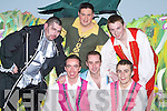 PRODUCTION: Playing in the Oliver Hurley Production of Jack and the Beanstalk Musical at Siamsa Tire, Tralee on Thursday night were: Darren Mullery (Flesh Creep), Alan Teahan (Jack), Billy Lacey, Jonathan Lynch, Derwin Myers and Gary Murphy (Male Dancers).   Copyright Kerry's Eye 2008
