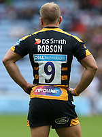 Wasps' Dan Robson <br /> <br /> Photographer Stephen White/CameraSport<br /> <br /> Gallagher Premiership - Wasps v Leicester Tigers - Sunday 16th September 2018 - Ricoh Arena - Coventry<br /> <br /> World Copyright &copy; 2018 CameraSport. All rights reserved. 43 Linden Ave. Countesthorpe. Leicester. England. LE8 5PG - Tel: +44 (0) 116 277 4147 - admin@camerasport.com - www.camerasport.com