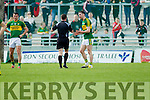 Kerry in action against  Cork in the National Football league in Austin Stack Park, Tralee on Sunday.
