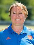 AMSTELVEEN - bondscoach ALYSON ANNAN, Nederlands team dames op weg naar de HWL. COPYRIGHT KOEN SUYK