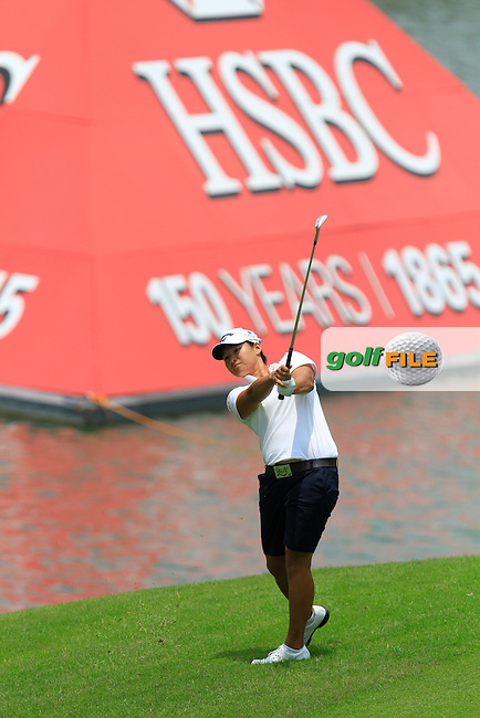 Yani Tseng (TWA) on the 9th fairway during Round 2 of the HSBC Women's Champions at the Sentosa Golf Club, The Serapong Course in Singapore on Friday 6th March 2015.<br /> Picture:  Thos Caffrey / www.golffile.ie