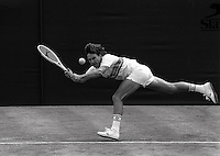 Pix:Michael Steele/SWpix...Tennis. Jimmy Connors, Queens Club, London. 1987...COPYRIGHT PICTURE>>SIMON WILKINSON..Jimmy Connors, Queens Club, London. 1987.