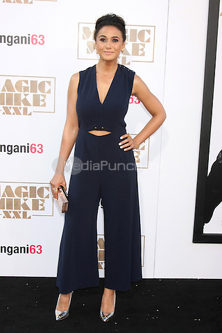 """LOS ANGELES, CA - JUNE 25: Emmanuelle Chriqui  at the """"Magic Mike XXL"""" Premiere at the TCL Chinese Theater on June 25, 2015 in Los Angeles, California. Credit: David Edwards/MediaPunch"""
