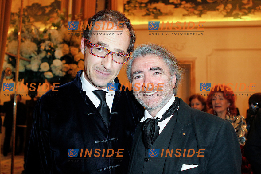 Conte Emmanuel de Brantes et Ruben Alterio - Gala de Charite (ONLUS) .Parigi 19/11/2012.Cercle De L'Union Interallie.Gala organizzato dalla Onlus The Children for Peace.Foto Stephane Allaman / Panoramic / Insidefoto.ITALY ONLY