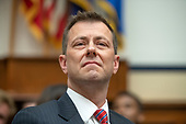 "FBI Deputy Assistant Director Peter Strzok, prior to Strzok giving testimony during a joint hearing of the United States House Committee on the Judiciary and the US House Committee on Oversight and Government Reform on ""Oversight of FBI and DOJ Actions Surrounding the 2016 Election"" on Capitol Hill in Washington, DC on Thursday, July 12, 2018. <br /> Credit: Ron Sachs / CNP<br /> (RESTRICTION: NO New York or New Jersey Newspapers or newspapers within a 75 mile radius of New York City)"