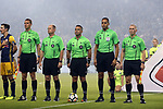 KANSAS CITY, KS - SEPTEMBER 20: Match Officials. From left: Assistant Referee Andrew Bigelow, Fifth Official Jeff Muschik, Referee Hilario Chico Grajeda, Fourth Official Ismail Elfath, and Assistant Referee Jason White. Sporting Kansas City hosted the New York Red Bulls on September 20, 2017 at Children's Mercy Park in Kansas City, KS in the 2017 Lamar Hunt U.S. Open Cup Final. Sporting Kansas City won the match 2-1.