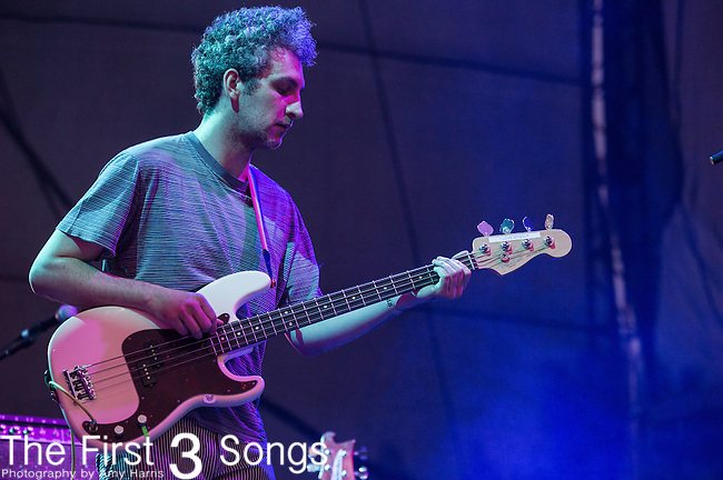 Matt Asti of MGMT performs during Day 2 of the 2013 Firefly Music Festival in Dover, Delaware.