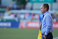 Portland, OR - Saturday July 22, 2017: Mark Parsons during a regular season National Women's Soccer League (NWSL) match between the Portland Thorns FC and the Washington Spirit at Providence Park.