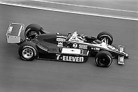 INDIANAPOLIS, IN - MAY 31: Kevin Cogan drives his March 86C/Cosworth during practice for the Indianapolis 500 USAC Indy Car race at the Indianapolis Motor Speedway in Indianapolis, Indiana, on May 31, 1986.