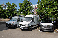 Police vans...<br /> <br /> Maidenhead, 03/06/2017. Today, Disabled People Against Cuts (DPAC) held a demo in Maidenhead, Prime Minister Theresa May's constituency. The aim of the protest was to highlight the 'treatment' dedicated to disabled people from the Coalition Government (Conservative &amp; Liberal Democrats, 2010 - 2015), then the David Cameron's Conservative Government (without the LibDem, 2015 - 2016) and finally the actual Conservative Government led by the former Secretary of State Theresa May. From the organiser website: &lt;&lt;[&hellip;] DPAC will take its message #TrashTheTories to the heart of Theresa May's constituency to highlight the horrors that disabled people have faced on a daily basis since they came to power in 2010. The UN has found the UK government guilty of the grave and systematic violation of disabled people's human rights and we will be making it clear that enough is enough, to the voters of Maidenhead. The Tories have heartlessly attacked disabled people with their vicious anti-austerity cuts which have hit disabled people 9 times more than any other group and those with the highest support needs 19 times more. In all the years we have been campaigning, it has never felt so desperately important to get the public to understand; Tory policies are starving, isolating and ultimately killing us [&hellip;]&gt;&gt;. The demo ended with a peaceful outside Maidenhead train station.<br /> <br /> For more info click here: http://bit.ly/2r4PDN4<br /> <br /> For the UN inquiry findings click here: http://bit.ly/2fPttxR<br /> <br /> For some of my Reportages, from 2011 to 2017, about DPAC please click here: http://bit.ly/2ptsCpe &amp; http://bit.ly/2qBhPaf &amp; http://bit.ly/2oV25Tn &amp; http://bit.ly/2qBG208 &amp; http://bit.ly/1iUyrnM &amp; http://bit.ly/VEXEJ9 &amp; http://bit.ly/VAVlqB &amp; http://bit.ly/1m2kd4r &amp; http://bit.ly/1rNq9g6 &amp; http://bit.ly/2qpEIRT &amp; http://bit.ly/17NsF3g &amp; http://bit.ly/1BBg8xG &amp; http://bi