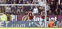 Burnley's Nick Pope is beaten by Leicester City's Jamie Vardy's (not pictured) second half strike <br /> <br /> Photographer Rich Linley/CameraSport<br /> <br /> The Premier League - Burnley v Leicester City - Saturday 14th April 2018 - Turf Moor - Burnley<br /> <br /> World Copyright &copy; 2018 CameraSport. All rights reserved. 43 Linden Ave. Countesthorpe. Leicester. England. LE8 5PG - Tel: +44 (0) 116 277 4147 - admin@camerasport.com - www.camerasport.com