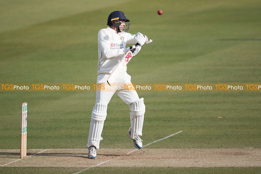 Graham Onions of Lancashire CCC evades a short delivery from James Harris during Middlesex CCC vs Lancashire CCC, Specsavers County Championship Division 2 Cricket at Lord's Cricket Ground on 13th April 2019