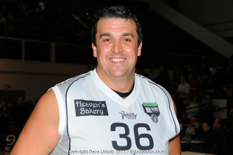 Hawks forward Ben Hill is all smiles after the 100-99 win. NBL - Wellington Saints v Bay Hawks at TSB Bank Arena, Wellington, New Zealand on Friday, 3 June 2011. Photo: Dave Lintott / lintottphoto.co.nz