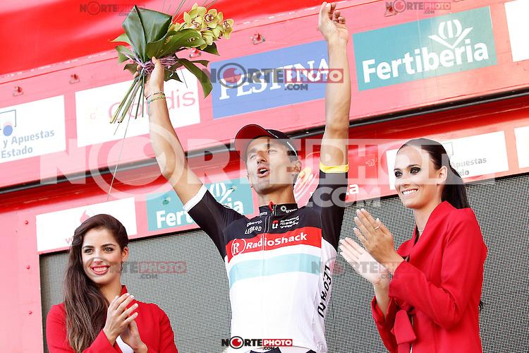 Daniele Bennati celebrates the victory in the stage of La Vuelta 2012 beetwen Aguilar de Campoo-Valladolid.September 6,2012. (ALTERPHOTOS/Paola Otero) /NortePhoto.com<br /> <br /> **CREDITO*OBLIGATORIO** <br /> *No*Venta*A*Terceros*<br /> *No*Sale*So*third*<br /> *** No*Se*Permite*Hacer*Archivo**<br /> *No*Sale*So*third*