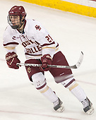 Matthew Gaudreau (BC - 21) - The visiting Merrimack College Warriors defeated the Boston College Eagles 6 - 3 (EN) on Friday, February 10, 2017, at Kelley Rink in Conte Forum in Chestnut Hill, Massachusetts.