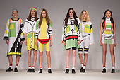 Collection by Chloe Siddall from UCLAN, University of Central Lancashire. Graduate Fashion Week 2014, Runway Show at the Old Truman Brewery in London, United Kingdom. Photo credit: Bettina Strenske