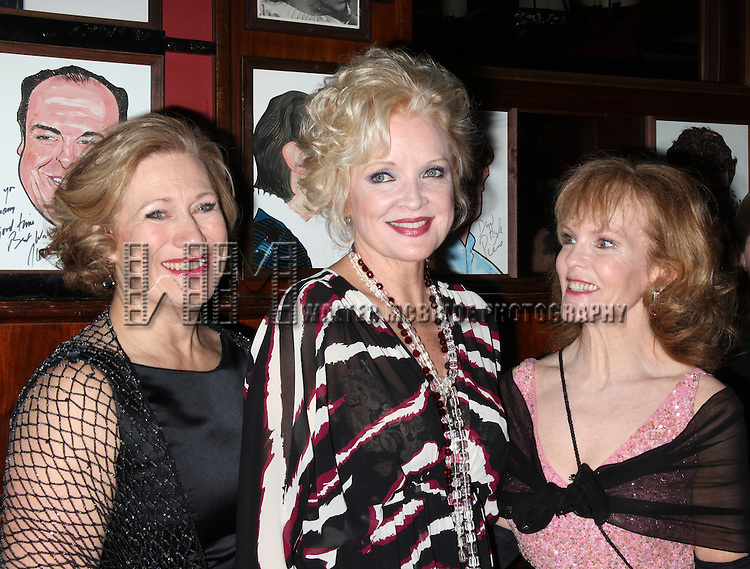 Jayne Atkinson & Christine Ebersole & Deborah Rush.attending Opening Night Performance after party for  Noel Coward's BLITHE SPIRIT at Sardi's Restaurant in New York City. March 15, 2009 © Walter McBride /