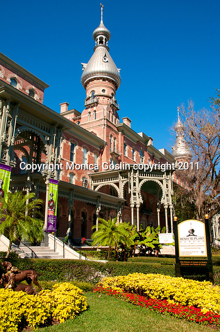 The Henry Plant Museum in Tampa, Florida. The Henry B. Plant Museum used to be the Tampa Bay Hotel in 1891 and is now a National Historical Landmark. The building was founded by Henry Plant who brought the railroad to Tampa in 1884 and eventually has 14 railway companies, steamship lines and hotels throughout Florida
