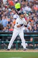 Miguel Cabrera (24) of the Detroit Tigers at bat against the Chicago White Sox at Comerica Park on June 2, 2017 in Detroit, Michigan.  The Tigers defeated the White Sox 15-5.  (Brian Westerholt/Four Seam Images)