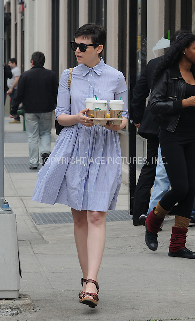 WWW.ACEPIXS.COM . . . . .  ....May 7 2012, New York City....Actress Ginnifer Goodwin takes a walk to get Starbucks coffee on May 7 2012 in New York City....Please byline: CURTIS MEANS - ACE PICTURES.... *** ***..Ace Pictures, Inc:  ..Philip Vaughan (212) 243-8787 or (646) 769 0430..e-mail: info@acepixs.com..web: http://www.acepixs.com