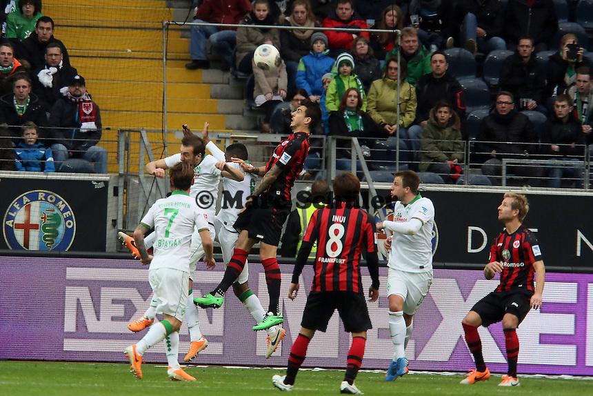Kopfball Joselu (Eintracht) - Eintracht Frankfurt vs. SV Werder Bremen