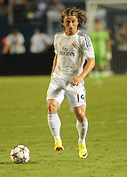 07.08.2013.Miami, Florida, USA.  Karim Benzema (19)   during the second half of the  the final of the Guinness International Champions Cup between Real madrid and Chelsea. The game was won by a score of 3-1 by Real Madrid with Ronaldo scoring a brace.