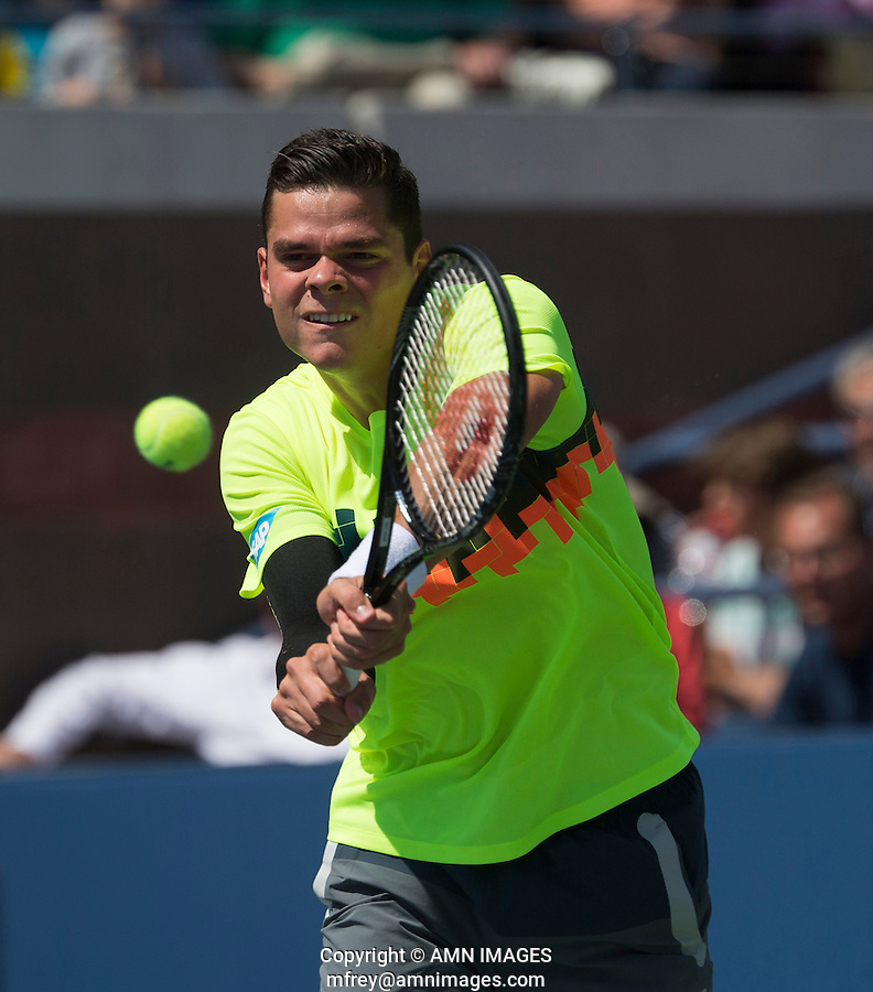 MILOS RAONIC (CAN)<br /> The US Open Tennis Championships 2014 - USTA Billie Jean King National Tennis Centre -  Flushing - New York - USA -   ATP - ITF -WTA  2014  - Grand Slam - USA  30th August 2014. <br /> <br /> © AMN IMAGES