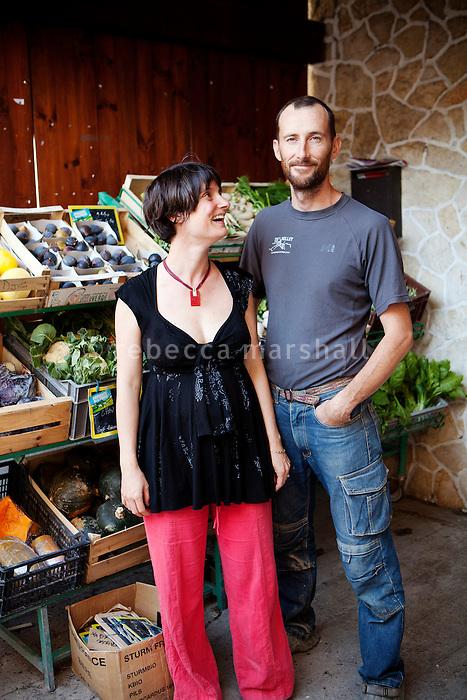 Bio d'Ici, Puget-Théniers, France, 25 October 2013. Bio d'Ici est une coopérative constituée de 8 agriculteurs bio. C'est un point de vente collectif qui permet aux agriclteurs-coopérateurs de commercialiser en direct dans un milieu rural de moyenne montagne.