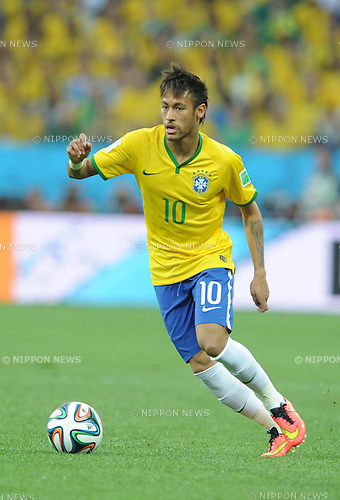 Neymar (BRA), JUNE 12, 2014 - Football / Soccer : FIFA World Cup Brazil 2014 Group A match between Brazil 3-1 Croatia at Arena de Sao Paulo in Sao Paulo, Brazil. (Photo by SONG Seak-In/AFLO)