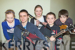 Talented young Fossa musicians who performed at the Gathering festival in the Gleneagle Hotel Killarney on Sunday l-r: Breda, Mike, Mary, Sean Kelleher and Cian O'Sullivan