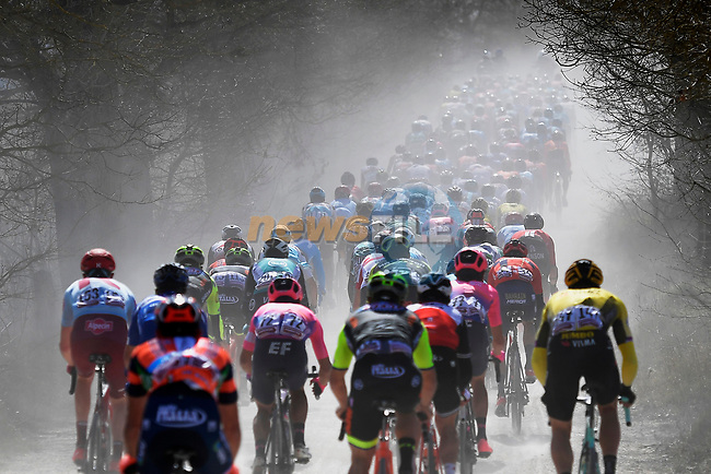 Action from the Strade Bianche 2019 running 184km from Siena to Siena, held over the white gravel roads of Tuscany, Italy. 9th March 2019.<br /> Picture: LaPresse/Fabio Ferrari | Cyclefile<br /> <br /> <br /> All photos usage must carry mandatory copyright credit (© Cyclefile | LaPresse/Fabio Ferrari)