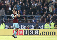 Burnley's Chris Wood applauds the fans as he is substituted during the second half<br /> <br /> Photographer Rich Linley/CameraSport<br /> <br /> The Premier League - Burnley v Leicester City - Saturday 14th April 2018 - Turf Moor - Burnley<br /> <br /> World Copyright &copy; 2018 CameraSport. All rights reserved. 43 Linden Ave. Countesthorpe. Leicester. England. LE8 5PG - Tel: +44 (0) 116 277 4147 - admin@camerasport.com - www.camerasport.com